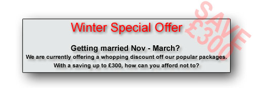 Massive saving for winter weddings - CLICK